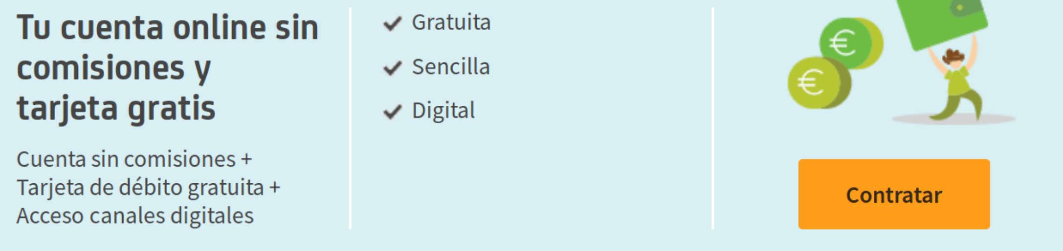 Cuenta_ON Bankia cuenta bancaria sin comisiones